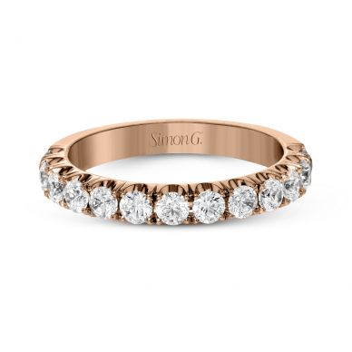 Simon G. LP2349 Rose Gold Simple Pave Wedding Ring for Women