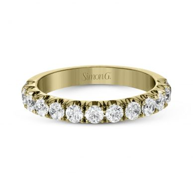 Simon G. LP2349 Yellow Gold Classic Pave Wedding Ring for Women