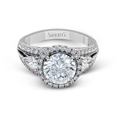 Simon G MR1503 Platinum Round Cut Engagement Ring