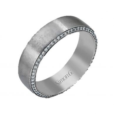 Simon G. MR2273 6mm Men's Platinum Diamond Wedding Band