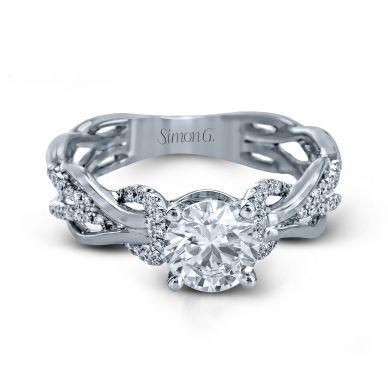 Simon G MR2514 Platinum Round Cut Engagement Ring