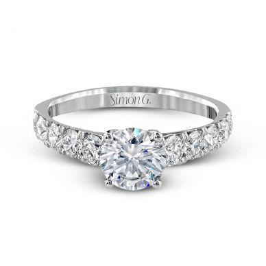 Simon G MR2548 White Gold Round Cut Engagement Ring