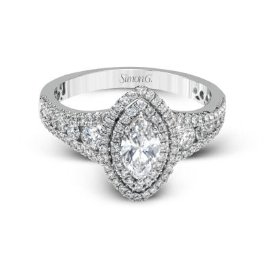 Simon G MR2591 Platinum Marquise Cut Engagement Ring