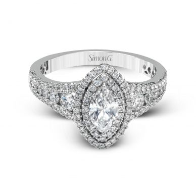 Simon G MR2591 White Gold Marquise Cut Engagement Ring