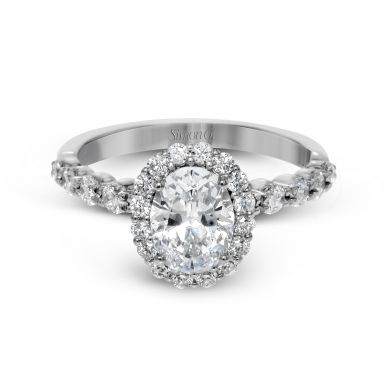 Simon G MR2878 White Gold Oval Cut Engagement Ring