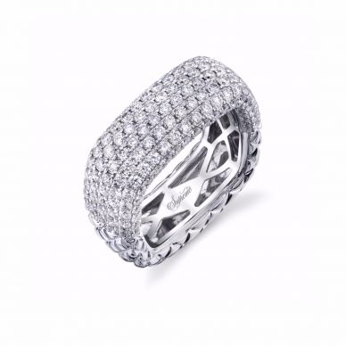 multi-row diamond wedding band