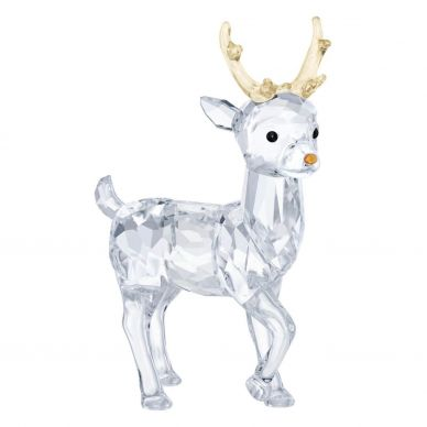 5400072 Santa's Reindeer Crystal Decoration