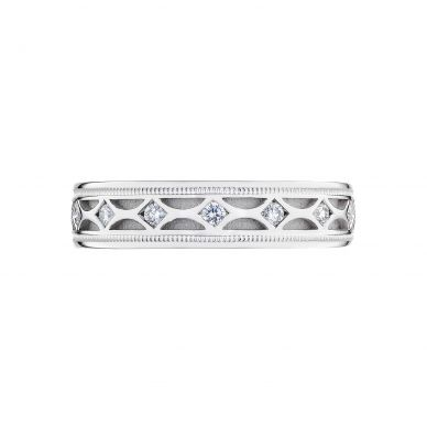 Tacori 126-5WD 5mm Vintage Men's White Gold Wedding Band