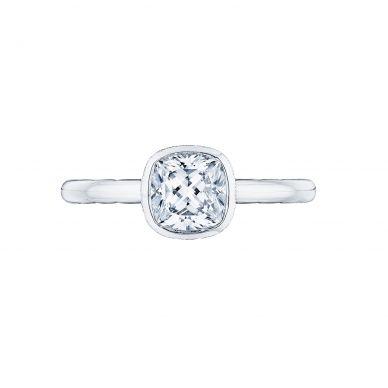 Tacori 300-2CU-6 Starlit Platinum Cushion Cut Engagement Ring