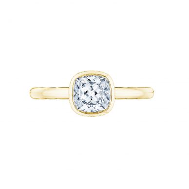 Tacori 300-2CU-6Y Starlit Yellow Gold Cushion Cut Engagement Ring