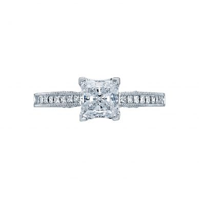 Tacori 3005 Simply Tacori Platinum Princess Cut Engagement Ring