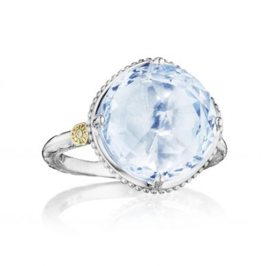 Tacori simple bold sky blue topaz ring SR22502
