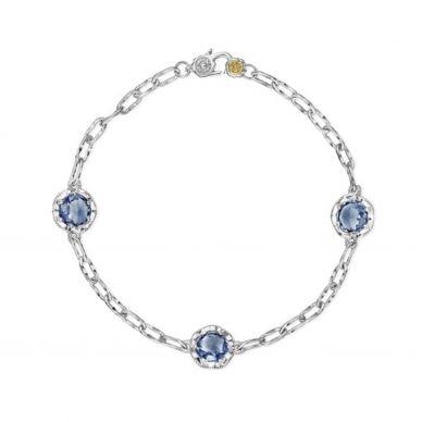 Topaz and Turquoise Station Bracelet SB222020533