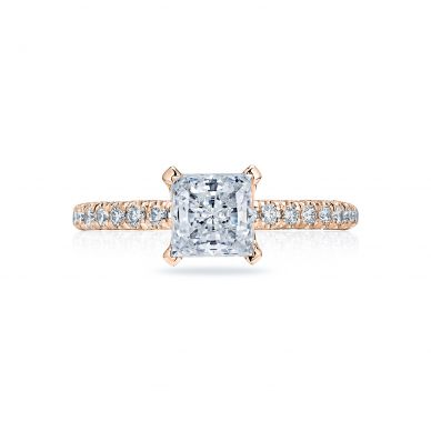 Tacori HT2545PR6-PK Petite Crescent Rose Gold Princess Cut Engagement Ring