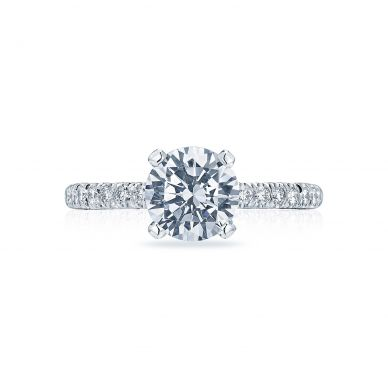 Tacori HT2545RD Petite Crescent White Gold Round Engagement Ring
