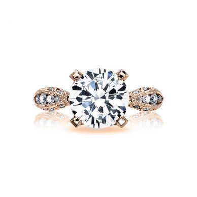 Tacori HT2602RD95-PK RoyalT Rose Gold Round Engagement Ring