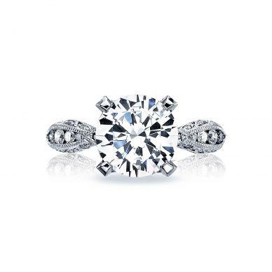 Tacori HT2602RD95 RoyalT Platinum Round Engagement Ring