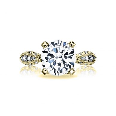 Tacori HT2602RD95-Y RoyalT Yellow Gold Round Engagement Ring