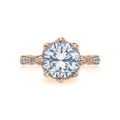 Tacori HT2604RD10-PK RoyalT Rose Gold Round Engagement Ring
