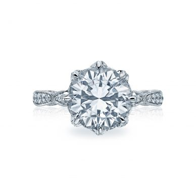 Tacori HT2604RD10 RoyalT Platinum Round Engagement Ring