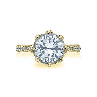 Tacori HT2604RD10-Y RoyalT Yellow Gold Round Engagement Ring