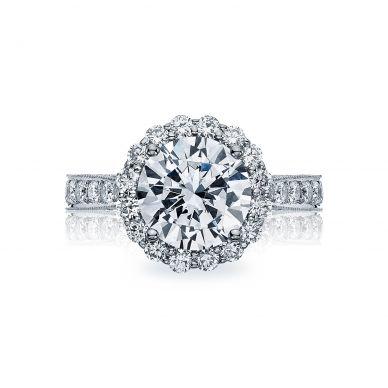 Tacori HT2605RD95 RoyalT Platinum Round Engagement Ring