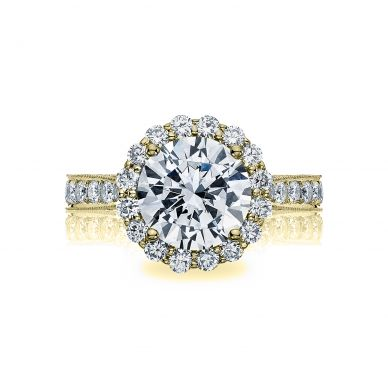 Tacori HT2605RD95-Y RoyalT Yellow Gold Round Engagement Ring
