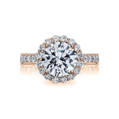 Tacori HT2605RD95PK RoyalT Rose Gold Round Engagement Ring
