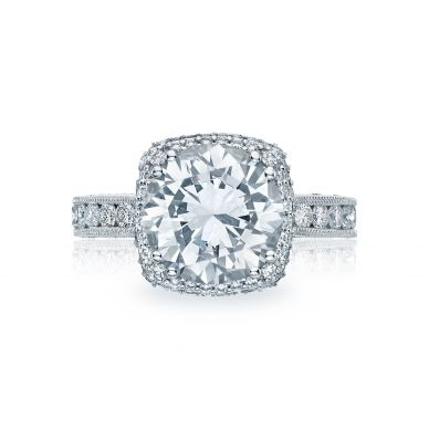 Tacori HT2607RD10 RoyalT Platinum Round Engagement Ring