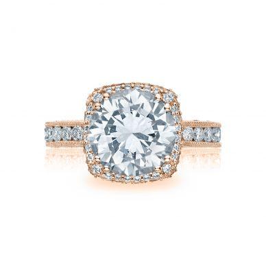 Tacori HT2607RD9-PK RoyalT Rose Gold Round Engagement Ring
