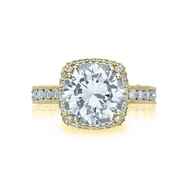 Tacori HT2607RD9Y RoyalT Yellow Gold Round Engagement Ring