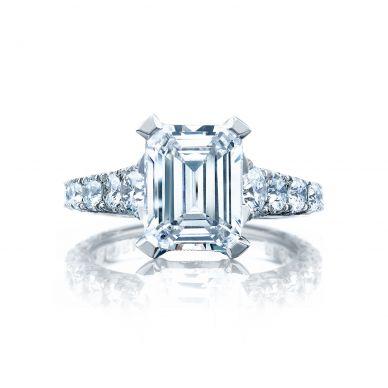 Tacori HT2623EC10X8 RoyalT Platinum Emerald Cut Engagement Ring
