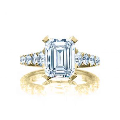 Tacori HT2623EC10X8-Y RoyalT Yellow Gold Emerald Cut Engagement Ring
