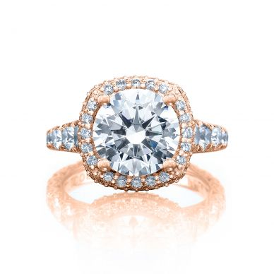 Tacori HT2624CU95-PK RoyalT Rose Gold Round Engagement Ring