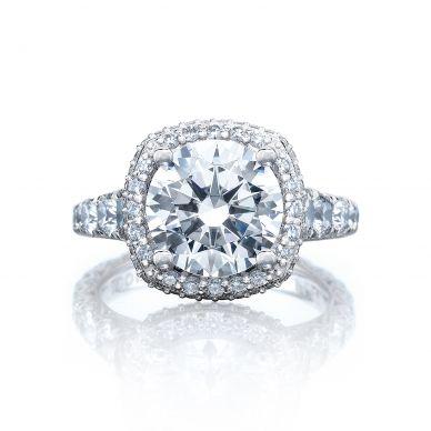 Tacori HT2624CU95 RoyalT Platinum Round Engagement Ring