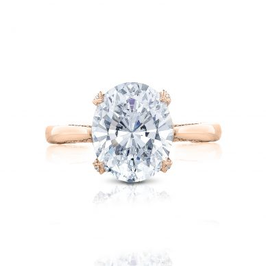 Tacori HT2625OV11X9-PK RoyalT Rose Gold Oval Engagement Ring