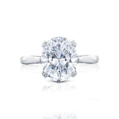 Tacori HT2625OV11X9 RoyalT Platinum Oval Engagement Ring