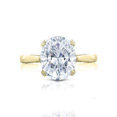 Tacori HT2625OV11X9-Y RoyalT Yellow Gold Oval Engagement Ring