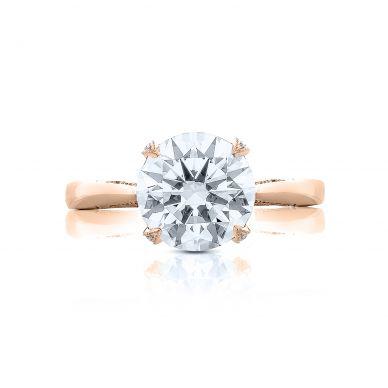 Tacori HT2625RD10-PK RoyalT Rose Gold Round Engagement Ring