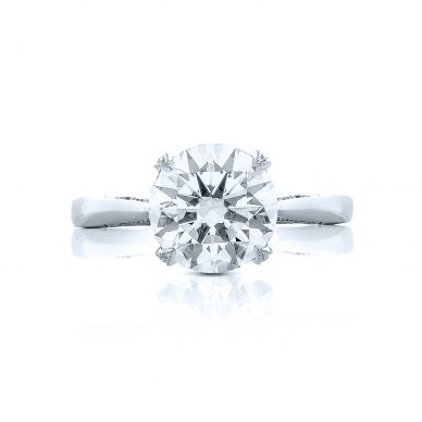 Tacori HT2625RD10 RoyalT Platinum Round Engagement Ring