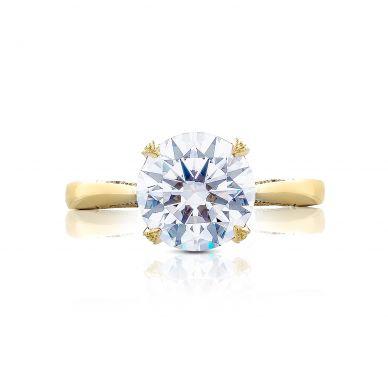 Tacori HT2625RD9Y RoyalT Yellow Gold Round Engagement Ring