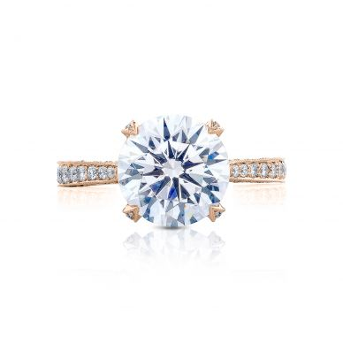 Tacori HT2626RD10-PK RoyalT Rose Gold Round Engagement Ring
