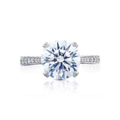 Tacori HT2626RD10 RoyalT Platinum Round Engagement Ring