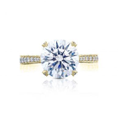Tacori HT2626RD10-Y RoyalT Yellow Gold Round Engagement Ring