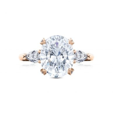 Tacori HT2628OV11X9-PK RoyalT Rose Gold Oval Engagement Ring