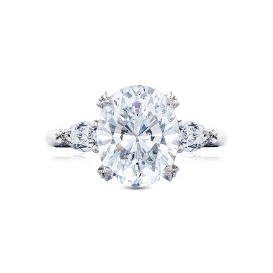 Tacori HT2628OV11X9 RoyalT Platinum Oval Engagement Ring