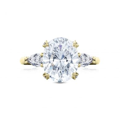 Tacori HT2628OV11X9-Y RoyalT Yellow Gold Oval Engagement Ring