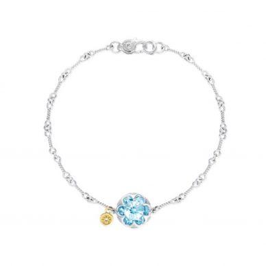 SB19801 Sonoma Skies Silver Amethyst Delicate Bracelet for Women