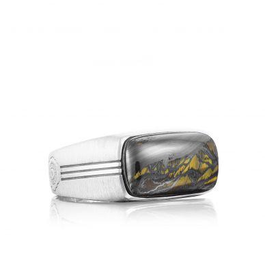 MR10239 Men's Silver Tiger Iron Fashion Ring
