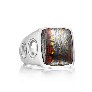 MR10539 Men's Silver Tiger Iron Unique Ring